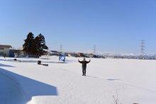 サクサクと カタ雪渡りの 歩を印す:画像