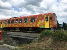 フラワー長井線 紅花列車:画像