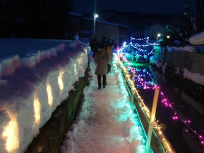 【冬まち歩き2018〜第15回ながい雪灯り回廊まつり】:画像