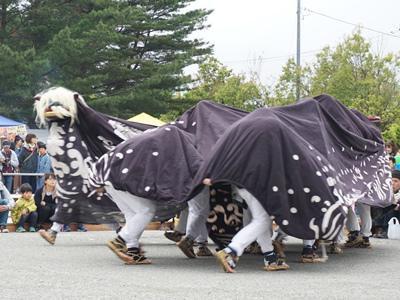 【第29回ながい黒獅子まつり−津島神社(森)−】:画像