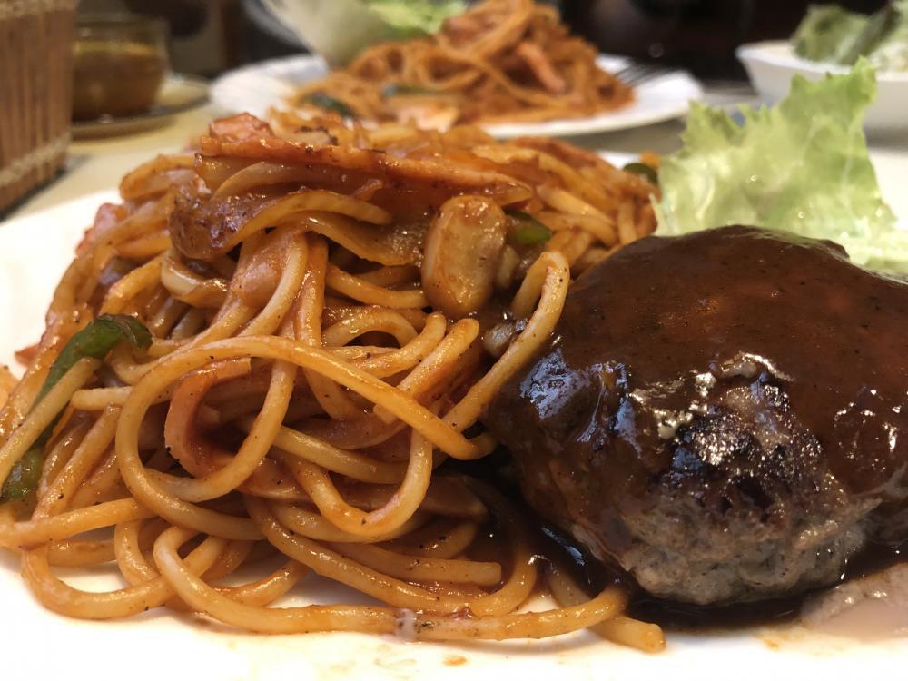 《みよしの》ハンバーグスパゲッティ:画像