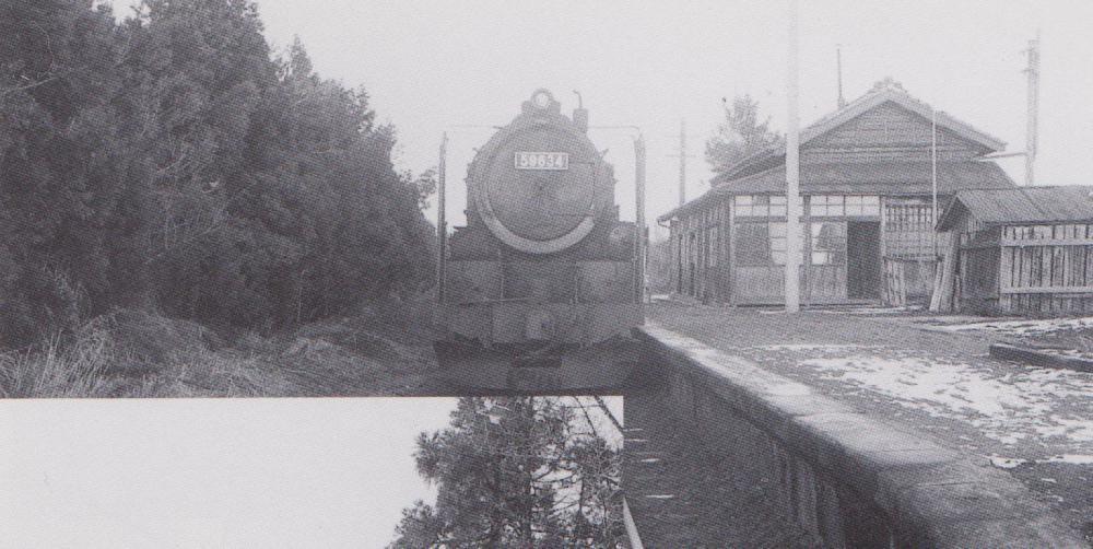 駅とSL、保線区小屋も:画像