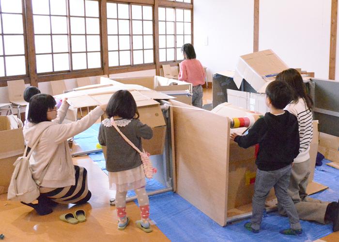 旧長井小学校第一校舎「つくってあそぼう!」工作ワークショップ