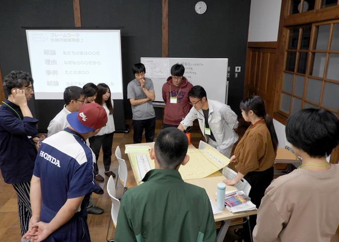 旧長井小学校第一校舎「家庭・職場・地域で使える!ファシリテーション講座」